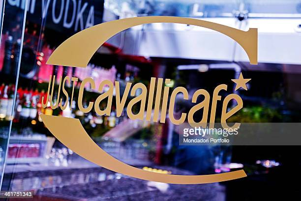 The logo of the Just Cavalli club at the foot of the Torre Branca in Parco Sempione Milan Italy 2013