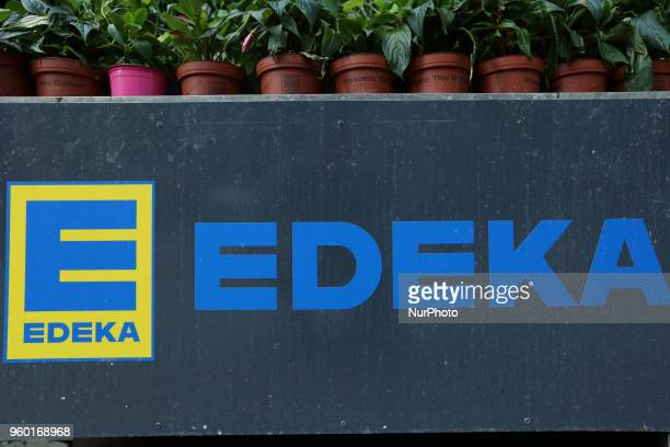 The logo of the largest German supermarket corporation EDEKA currently holding a market share of 26% is seen in Munich