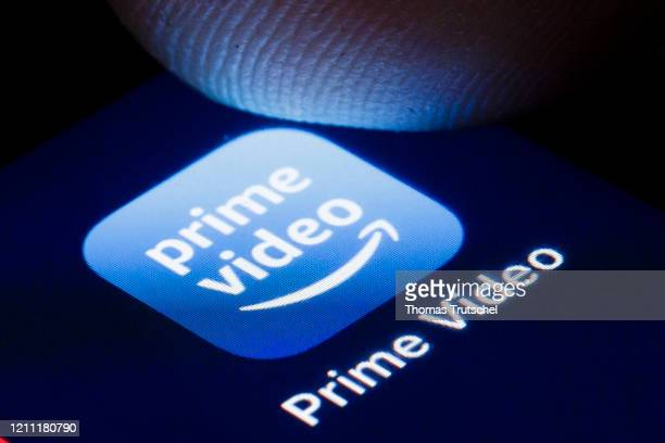 The logo of the online video library Amazon Prime Video is shown on the display of a smartphone on April 22, 2020 in Berlin, Germany.