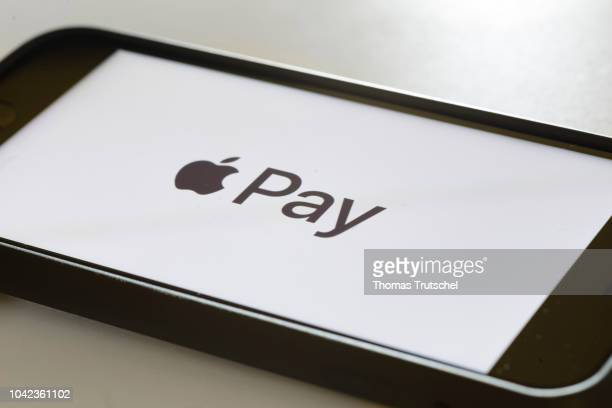 The logo of the payment system Apple Pay is displayed on a smartphone on September 28 2018 in Berlin Germany