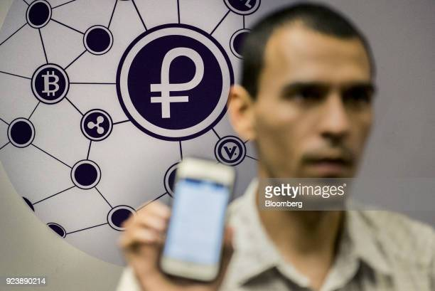 The logo of the Petro cryptocurrency is displayed as Saul Osio member of the United Socialist Party of Venezuela and cryptocurrencies specialist...