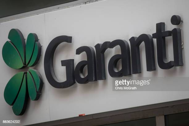 The logo of the Turkish bank Garanti is seen on December 1 2017 in Istanbul Turkey The trial of Mr Reza Zarrab an IranianTurk who ran a foreign...