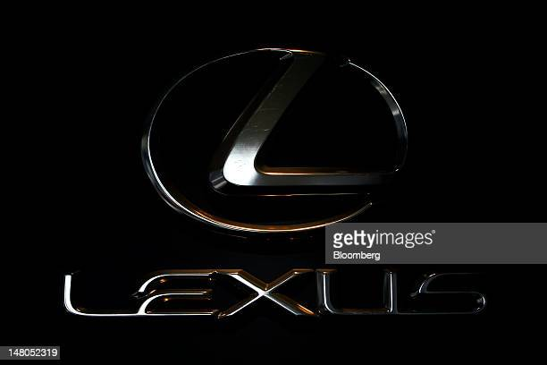 The logo of Toyota Motor Corp's Lexus brand vehicles is displayed at Toyota Motor Kyushu Inc's Miyata plant in Miyawaka City Fukuoka Prefecture Japan...