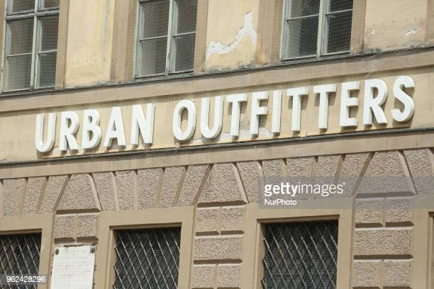 The logo of Urban Outfitters is seen in the Munich pedestrian zone