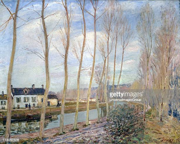 The Loing Canal at Moret' 1892 Alfred Sisley French painter Oil on canvas