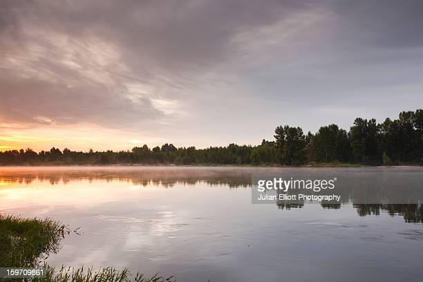 The Loire river near to Tours at dawn.