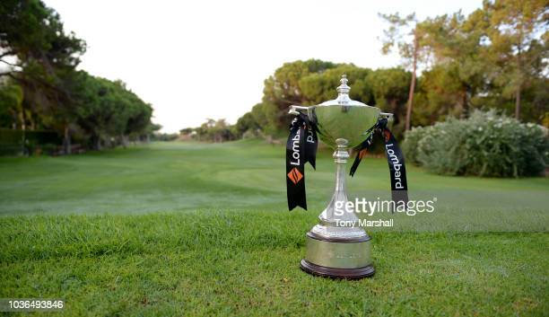 Marie Martindale of Hampstead Golf Club putts on the 18th green during Day One of The WPGA Lombard Trophy Grand Final on September 20 2018 in...