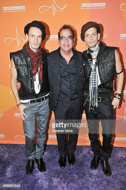 The Lombard Twins and Director Richard JayAlexander attend the opening night of Dr Phillips Center for the Performing Arts Broadway Beyond on...