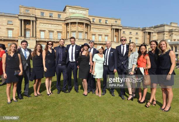 The London 2012 Olympics Team GB Water Polo team attend a Garden Party hosted by Queen Elizabeth II at Buckingham Palace on June 6 2013 in London...