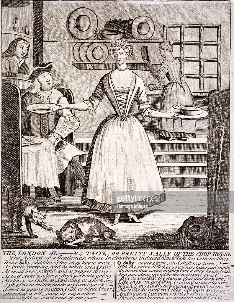 'The London al - n's taste, or pretty Sally of the chop-house', 1750. Artist: Anon : News Photo