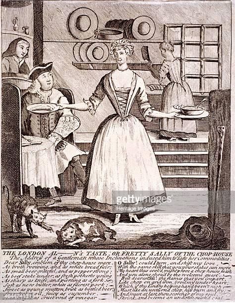 'The London al n's taste or pretty Sally of the chophouse' a waitress hands a chop on a dish to an alderman on the left