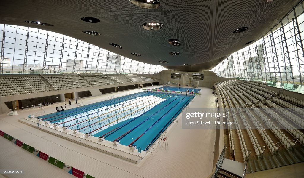 The london aquatics centre at the queen elizabeth olympic park in