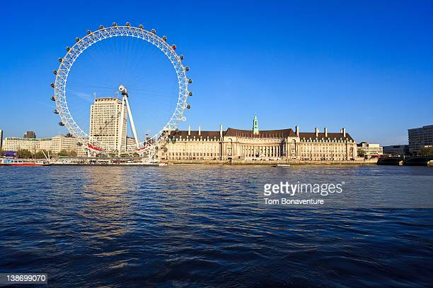 the london eye across the river thames - london eye stock pictures, royalty-free photos & images