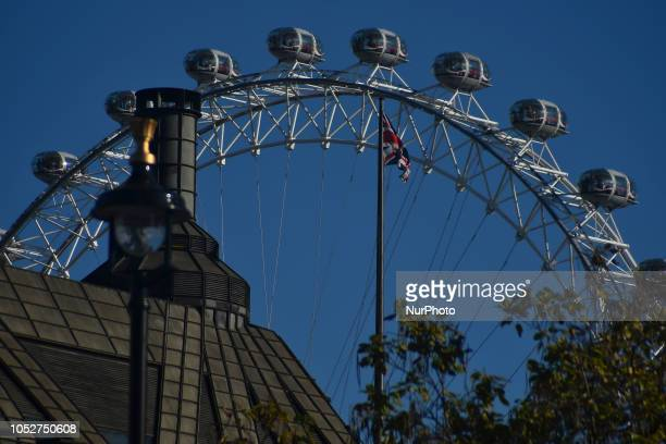 The London Eye is pictured in London on October 22 2018