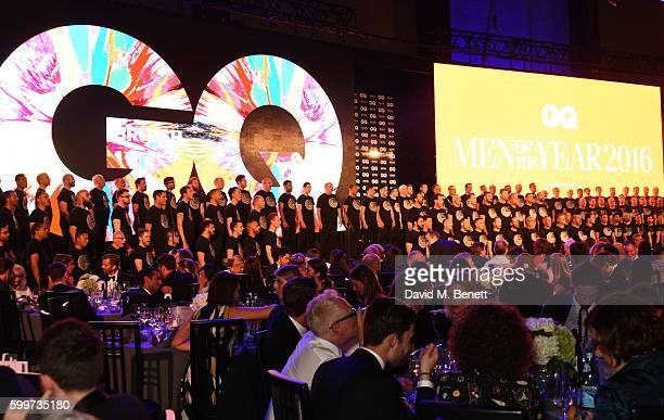 The London Gay Men's Chorus perform at the GQ Men Of The Year Awards 2016 at the Tate Modern on September 6 2016 in London England