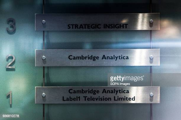 The London headquarters of Cambridge Analytica Facebook expressed outrage over the misuse of its data as Cambridge Analytica the British firm at the...