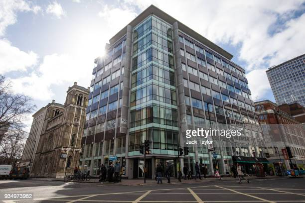 The London headquarters of Cambridge Analytica stands on New Oxford Street in central London on March 20 2018 in London England British authorities...