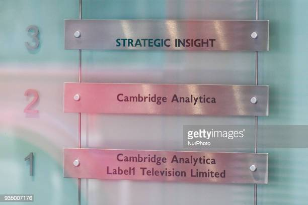The London headquarters of Cambridge Analytica stands on New Oxford Street in central London on March 20 2018 The company is accused of using the...