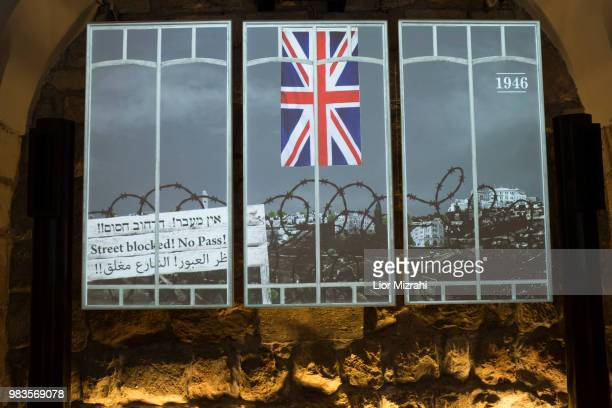 The 'London in Jerusalem' exhibition Which presents life in Jerusalem under the British Mandate at The Tower of David Museum on June 25 2018 in...