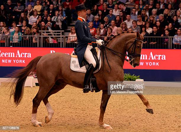 The London International Horse Show at Olympia UK FEI Reem Acra World Cup Dressage GP Freeestyle Hans Peter Minderhoud NED riding Gleeks Flirt