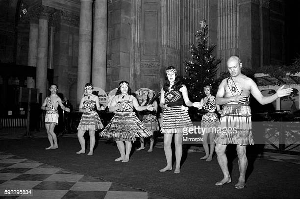 'The London Maori Club' which comprises of New Zealand people working in London gave a Christmas performance at lunchtime at St Pauls Cathedral They...