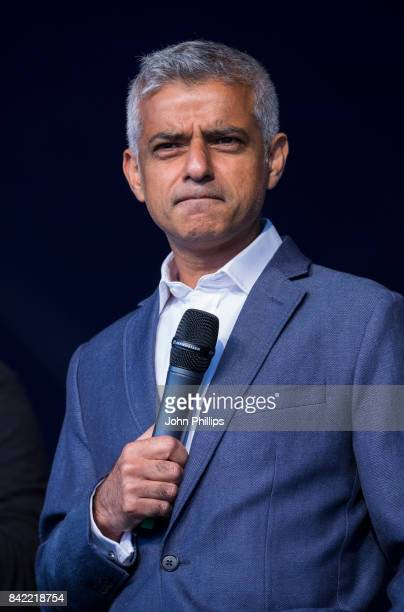 The London Mayor Sadiq Khan attends the London Mela 2017 at Gunnersbury Park on September 3 2017 in London England