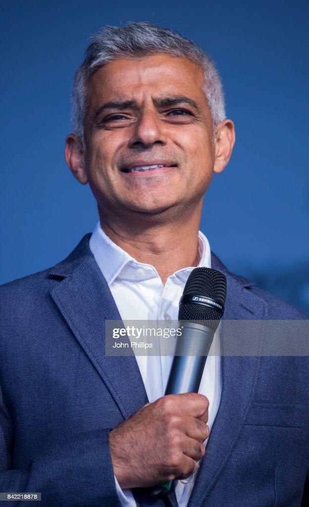 The London Mayor Sadiq Khan attends the London Mela 2017 at Gunnersbury Park on September 3, 2017 in London, England.