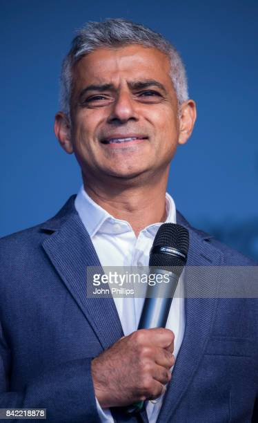 The London Mayor Sadiq Khan attends the London Mela 2017 at Gunnersbury Park on September 3 2017 in London England