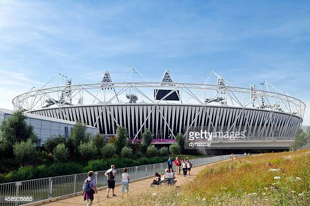 the london olympic stadium - 2012 summer olympics london stock photos and pictures