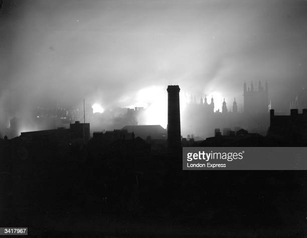 The London skyline during the blitz