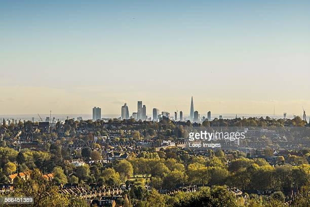 The London skyline from Alexandra Palace