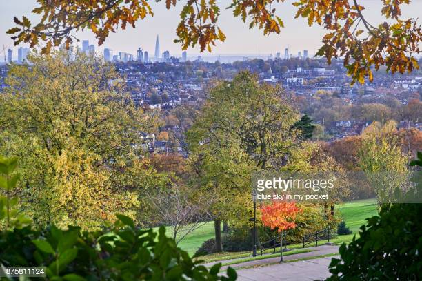 The London skyline on a beautiful autumn afternoon.