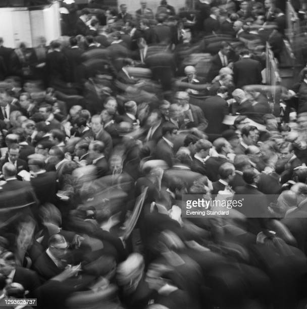 The London Stock Exchange during the government's devaluation of the pound sterling, UK, 21st November 1967.
