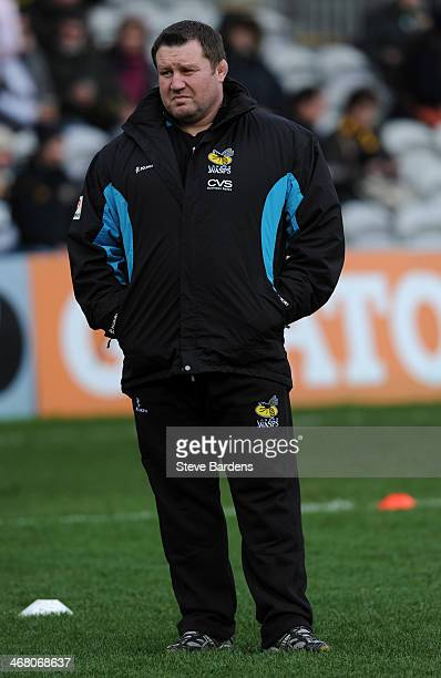 The London Wasps Director of Rugby Dai Young is seen before the Aviva Premiership match between Harlequins and London Wasps at Twickenham Stoop on...