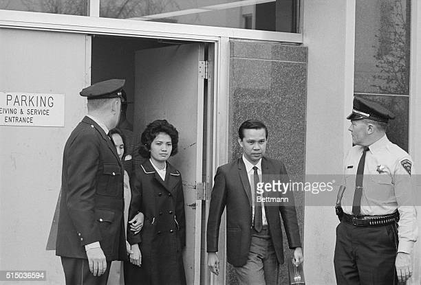 The Lone Survivor Peoria Illinois Corazon Amurao leaves the court here with her mother after her cross examination in the trial of Richard Speck in...