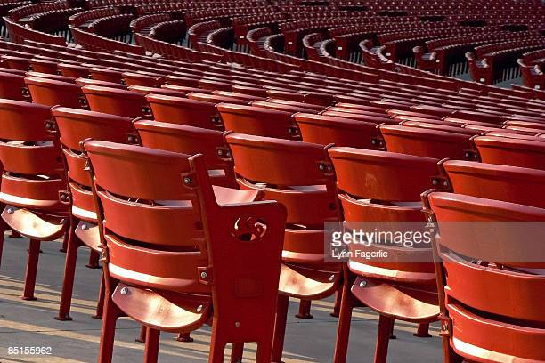the lonely seat - millenium park stock photos and pictures