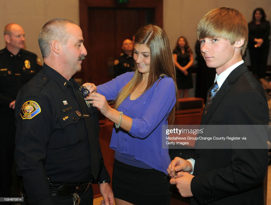 BEACH - - The Long Beach Police Department held a promotion ceremony