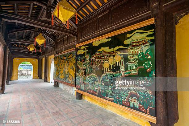 The long corridors decorating the tomb of Minh Mang