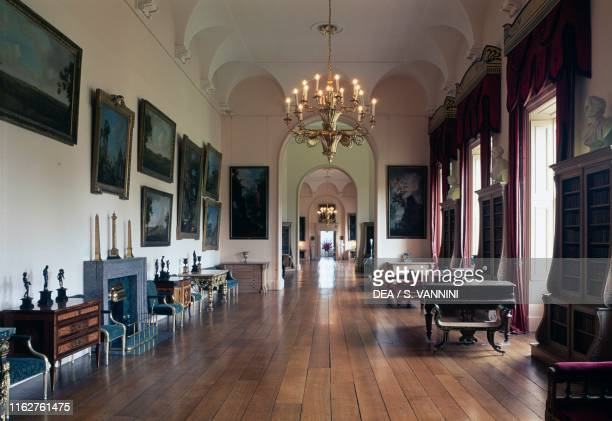 The Long Gallery designed by Charles Heathcote Tatham inside Castle Howard 16991799 designed by John Vanbrugh York England United Kingdom