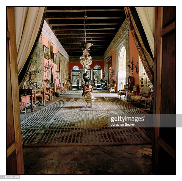 The Long hall of the Palacio de Duenas which was used as a ballroom is photographed for Vogue Espana on March 1517 2010 in Seville Spain Published...