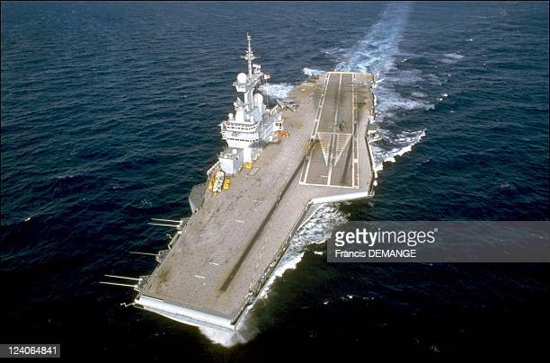 The long haul for the aircraft carrier the Charles de Gaulle In France On November 04 2000 An aerial view of the CharlesdeGaulle