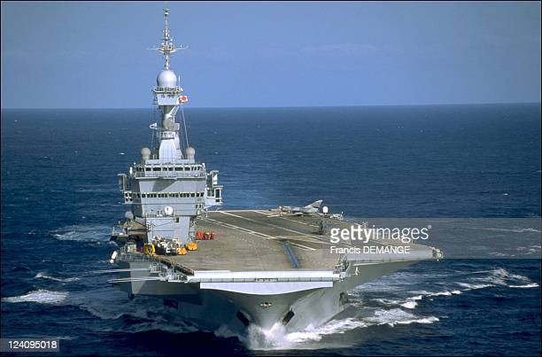 The long haul for the aircraft carrier the Charles de Gaulle In France On November 04 2000 Front view of the CharlesdeGaulle