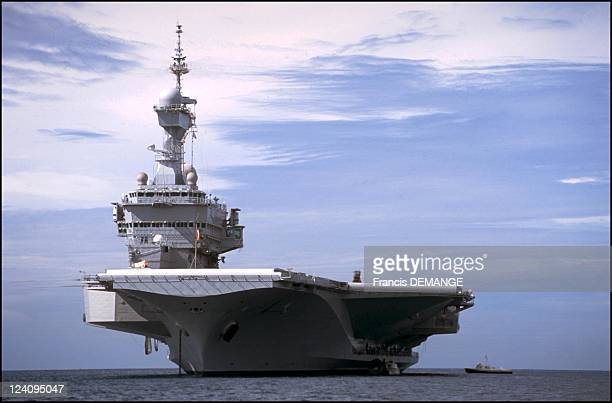 The long haul for the aircraft carrier the Charles de Gaulle In France On November 04 2000 The first step of a long crossing The CharlesdeGaulle...