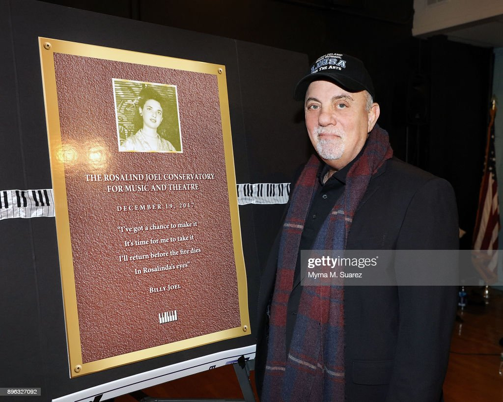 Billy Joel Attends Dedication Of The Rosalind Joel Conservatory For Music And Theatre