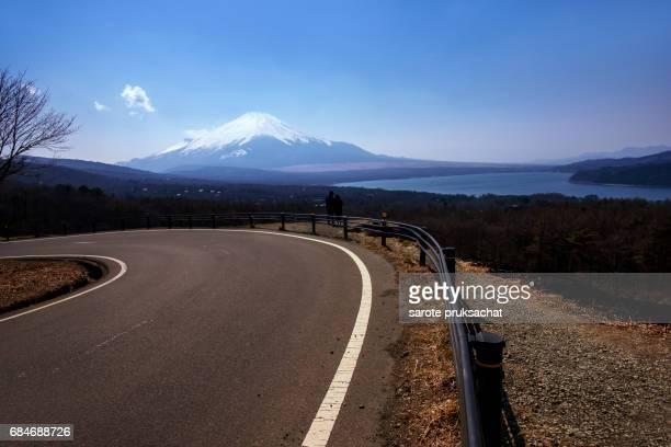 The Long road in to nature . Mt. Fuji ,Fujisan Japan.