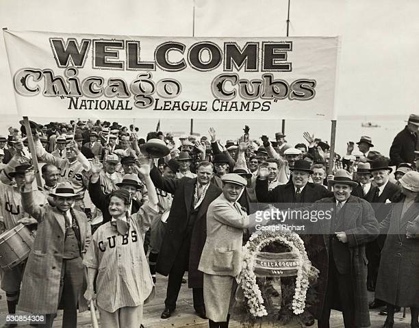 The long trek toward a pennant race for 1930 begins for the Chicago Cubs as they arrive at Catalina Island and prepare for their period of winter...