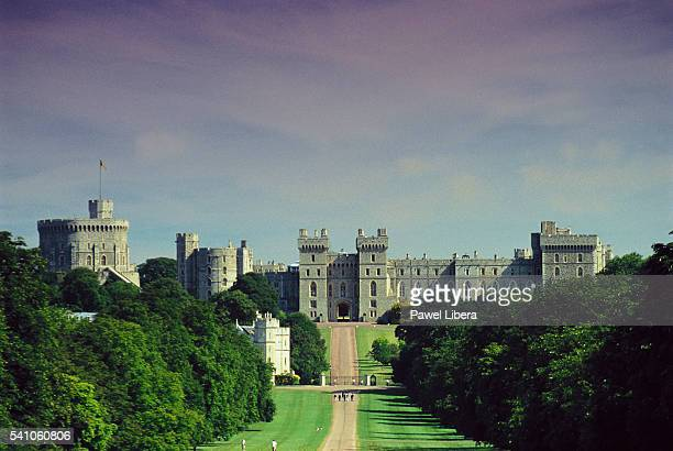 the long walk - windsor castle stock pictures, royalty-free photos & images
