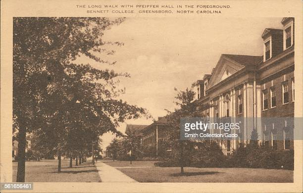 The Long Walk With Pfeiffer Hall in the Foreground Bennett College Greensboro North Carolina 1924