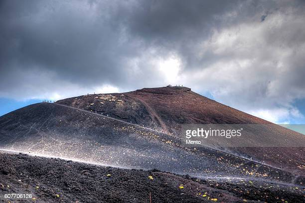 the long way. - mt etna stock pictures, royalty-free photos & images