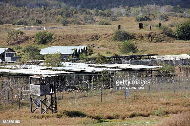 The long-abandoned military detention center Camp X-Ray is seen in this January 27, 2017 photo. After years of shrinking operations at the notorious...